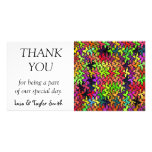 Colourful shapes pattern photo card template