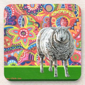 Colourful Sheep Art Coasters - Set of 6
