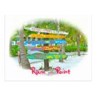 Colourful Signs at Rum Point  Grand Cayman Postcard