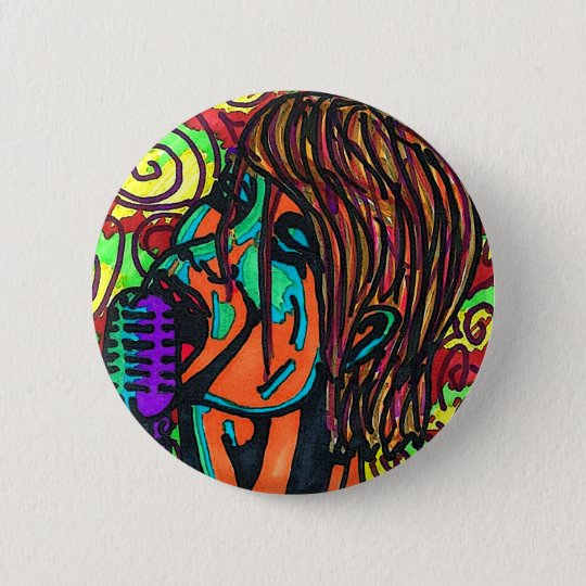 Colourful Singer Button