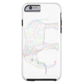 Colourful Sketch Elephant Design Tough iPhone 6 Case