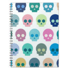 Colourful Skull Cute Pattern Notebook