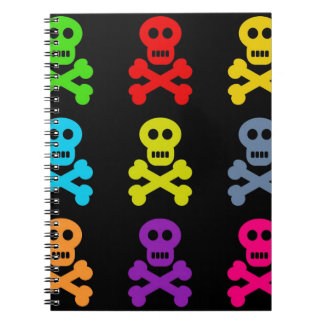 Colourful Skulls Notebook