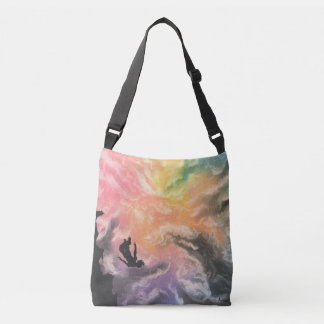 colourful sky dive crossbody bag