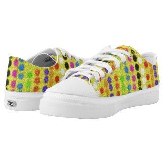 Colourful small Dots Low Tops