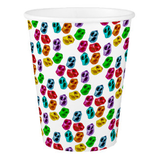 Colourful snails paper cup