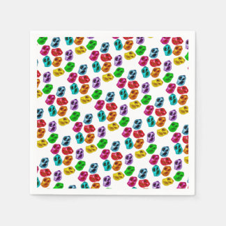 Colourful snails paper napkin