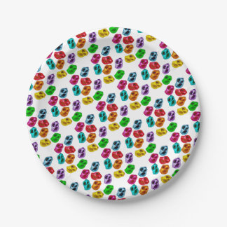 Colourful snails paper plate