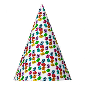 Colourful snails party hat