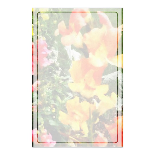 Colourful Snapdragons Stationery