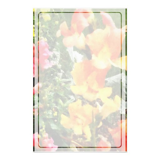 Colourful Snapdragons Stationery Paper
