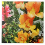 Colourful Snapdragons Tiles