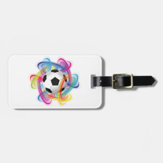 Colourful Soccer Ball Luggage Tags
