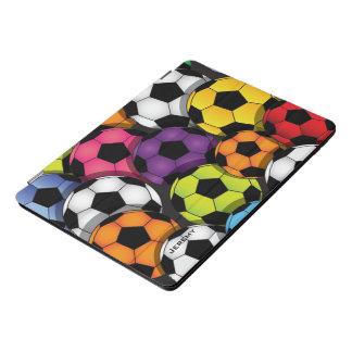 Colourful Soccer Balls Design iPad Pro Case