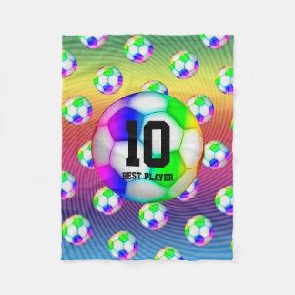 Colourful Soccers Balls   Girly Sport Gift Fleece Blanket