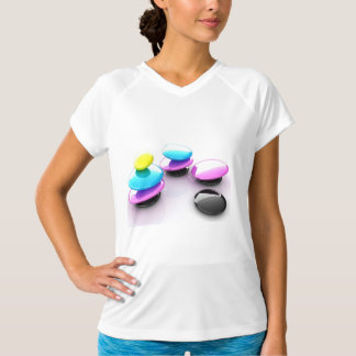 Colourful Spa Stones Womens Active Tee