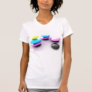 Colourful Spa Stones Womens T-Shirt