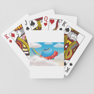 Colourful Spaceship Playing Cards