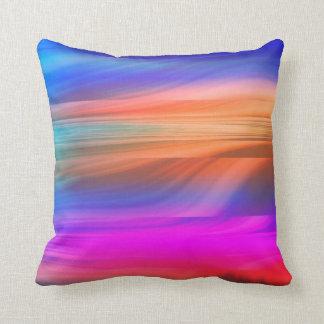 Colourful spectrum throw pillow