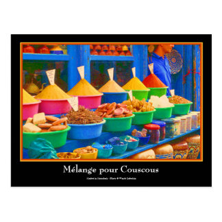 Colourful Spice Market in Marrakesh Morocco Post Cards