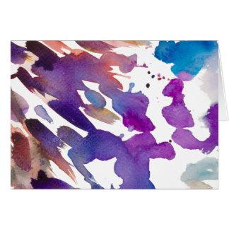"""Colourful spots"" Card"