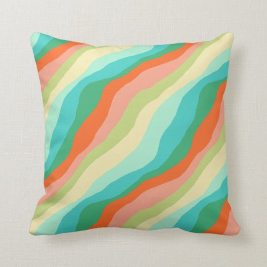 Colourful Spring Abstract Pattern Cushion