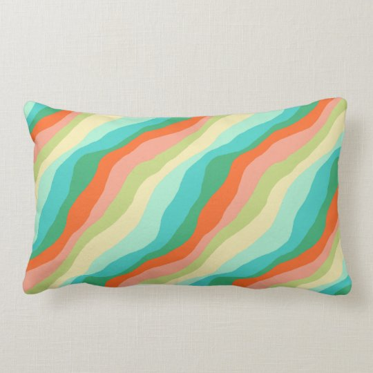 Colourful Spring Abstract Pattern Lumbar Cushion