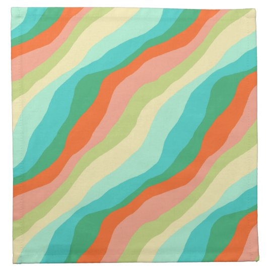 Colourful Spring Abstract Pattern Napkin