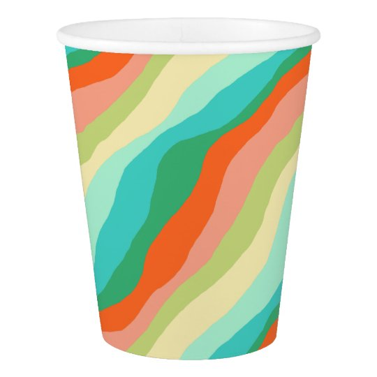 Colourful Spring Abstract Pattern Paper Cup