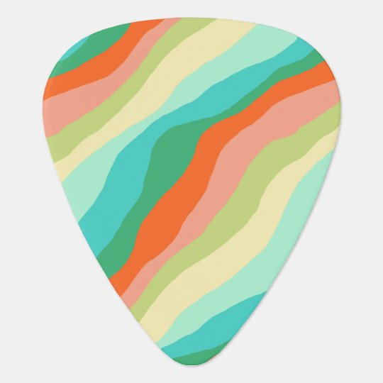 Colourful Spring Abstract Pattern Plectrum
