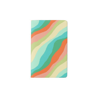 Colourful Spring Abstract Pattern Pocket Moleskine Notebook