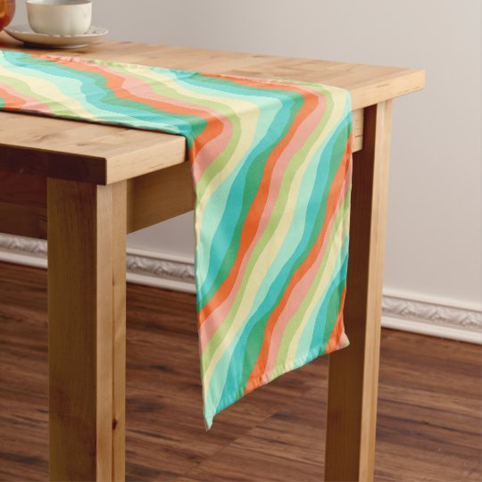 Colourful Spring Abstract Pattern Short Table Runner
