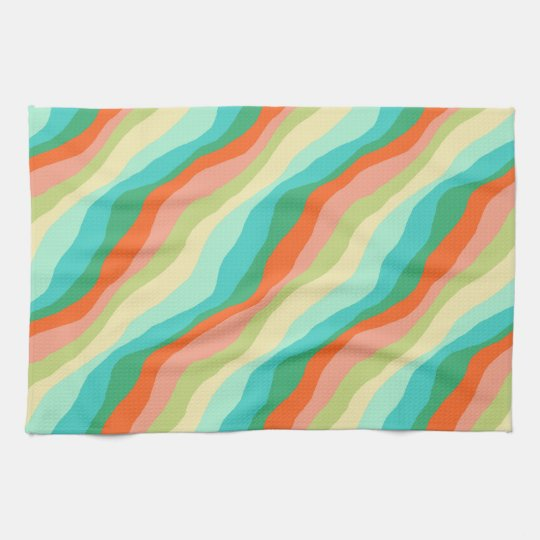 Colourful Spring Abstract Pattern Tea Towel