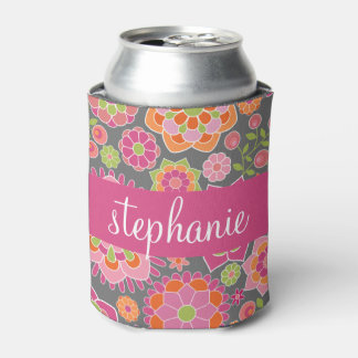 Colourful Spring Floral Pattern Custom Name