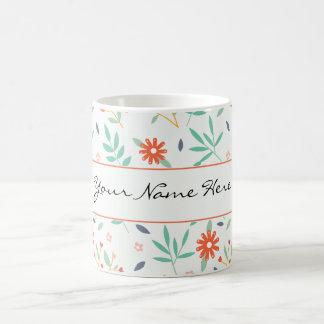 Colourful Spring Flowers Wedding Theme Coffee Mug
