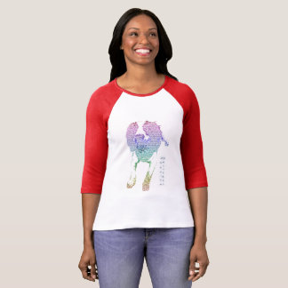 Colourful Springer Spaniel Womens Long-sleeve Tee