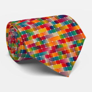 Colourful Square Pattern Design Tie