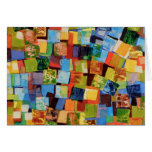 Colourful squares card