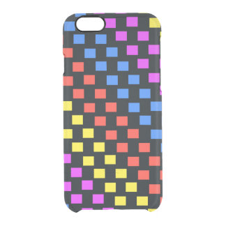 Colourful Squares Clear iPhone 6/6S Case