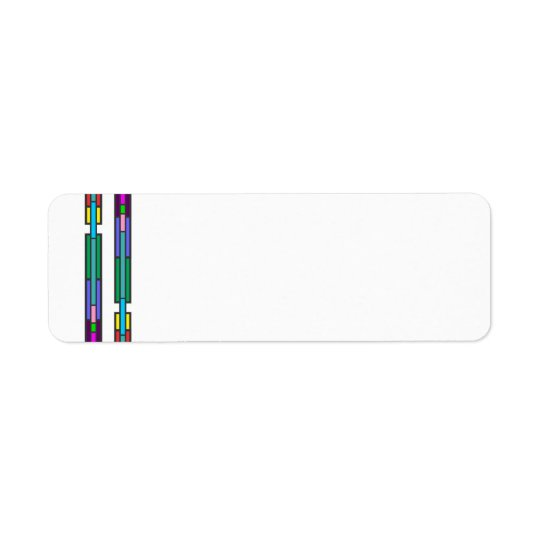 Colourful Stained Glass Design Return Address Label