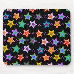 Colourful star pattern mouse pad
