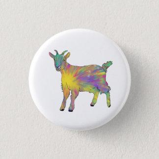 Colourful Starburst Art Goat Funny Animal design 3 Cm Round Badge