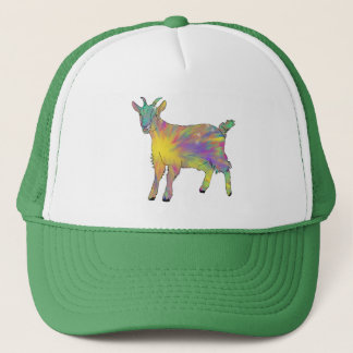 Colourful Starburst Art Goat Funny Animal design Trucker Hat