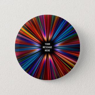 Colourful starburst explosion 6 cm round badge