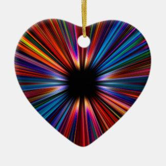 Colourful starburst explosion ceramic ornament