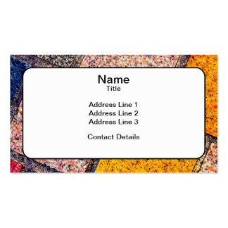 Colourful Street Cobblestones Pack Of Standard Business Cards