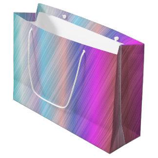 Colourful stripe large gift bag