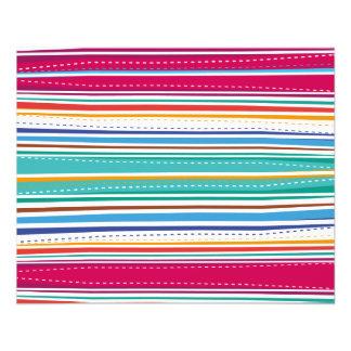 Colourful Stripes 11.5 Cm X 14 Cm Flyer