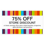 Colourful Stripes (discount card) Pack Of Standard Business Cards