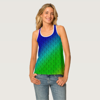 Colourful Stripes & Flowers 1 Racerback Tank Top